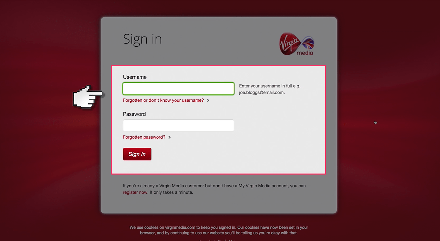 Seems Virgin media email addresses curious topic